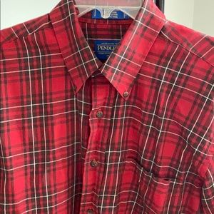 Plaid cotton and wool shirt